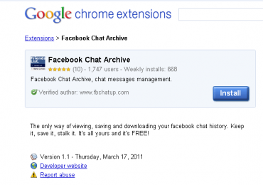 HOW TO: View Facebook Chat Archive With Google Chrome
