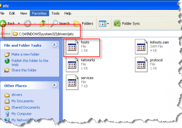 How To Block Website Through Host File In Windows XP