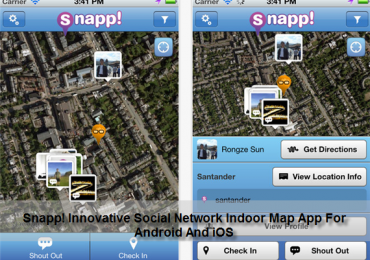 Snapp! Innovative Social Network Indoor Map App For Android And iOS