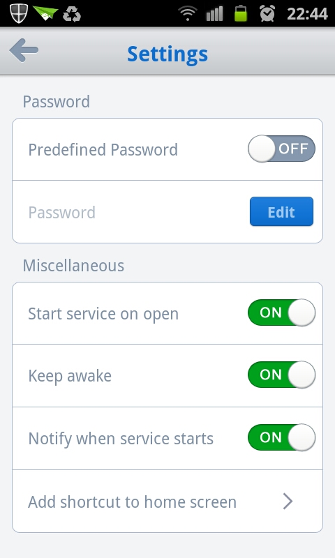 Define Your Own Settings
