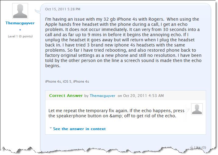 iPhone 4S Audio Problem