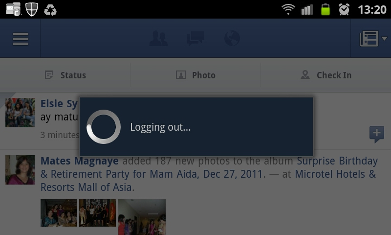 Facebook For Android Logging Out