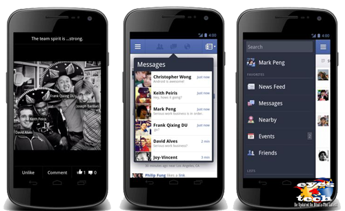 New Facebook For Android Features