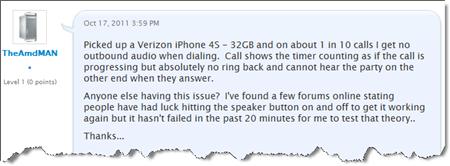iPhone 4S No Audio Call