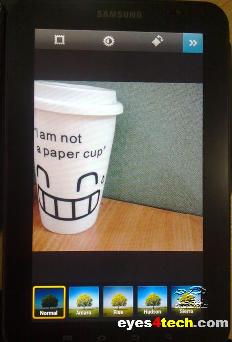 Instagram Filtered Effect On Samsung Galaxy Tab