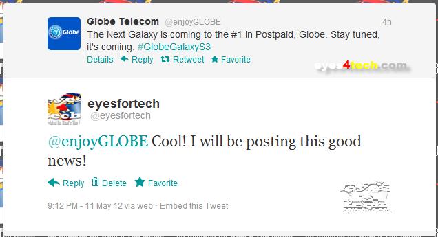 Samsung Galaxy S III Globe Philippines