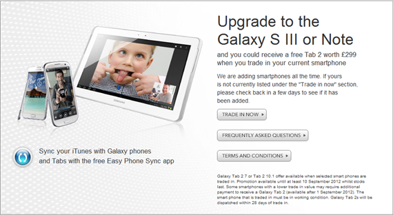 Trade In Your Old Smartphone For Samsung Galaxy S III