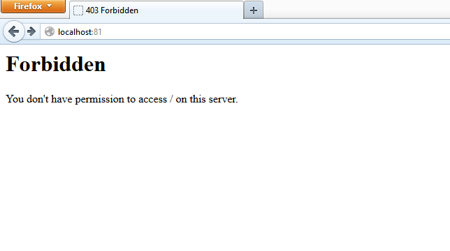 You don't have permission to access / on this server.