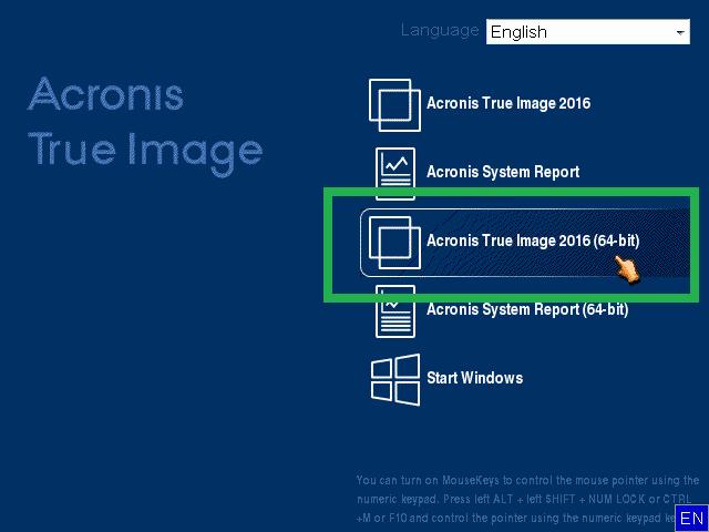 Acronis True Imaga